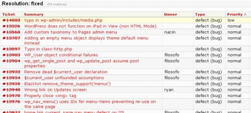 הנושאים שטופלו בוורדפרס 3.0.1
