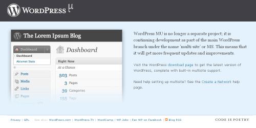 סגירת אתר WordPressMU
