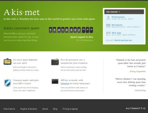 העיצוב החדש של Akismet.com