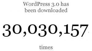 מונה ההורדות של וורדפרס 3.0