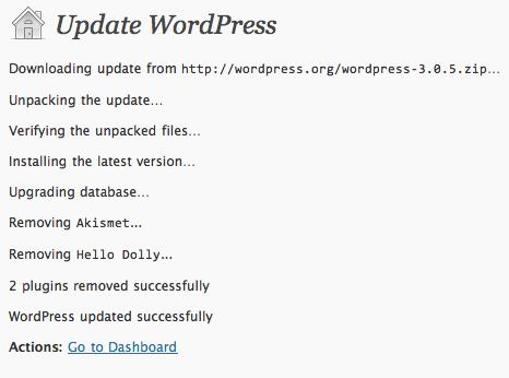 צילום מסך של התוסף Unwanted Plugins Remover