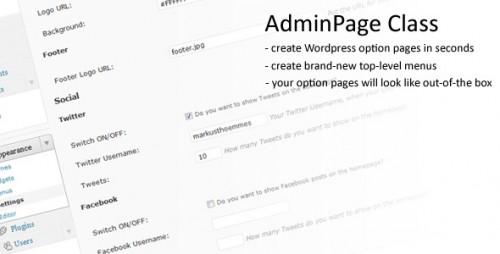 AdminPage Class for WordPress