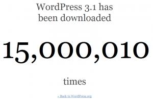 מונה ההורדות של וורדפרס 3.1