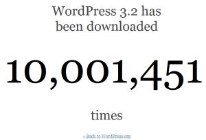 מונה ההורדות של וורדפרס 3.2