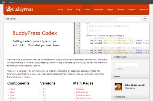 הקודקס של BuddyPress