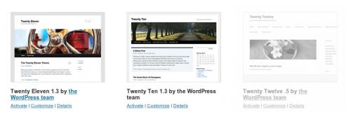 התבנית Twenty Twelve בוורדפרס 3.4