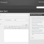 תבנית WP-Forest - העלאת תכנים דרך האתר