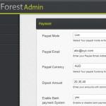 תבנית WP-Forest - הגדרות תשלום