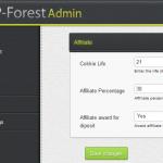 תבנית WP-Forest - הגדרות שותפים