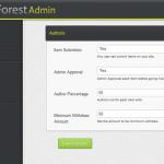 תבנית WP-Forest - הגדרות משתמשים