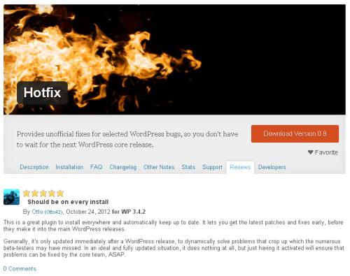 סקירה של התוסף Hotfix