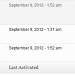 תאריכי הפעלה של התוספים