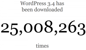 מונה ההורדות של וורדפרס 3.4