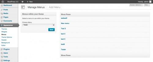 הצגת תפריטים בעזרת WP_List_Table
