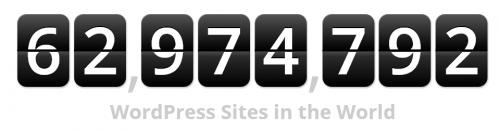 כמות אתרי וורדפרס בעולם