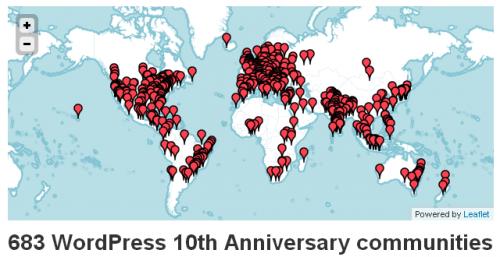 חגיגות עשור לוורדפרס מסביב לעולם