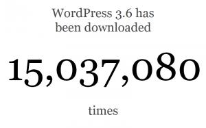 מונה ההורדות של וורדפרס 3.6