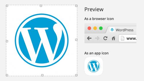 וורדפרס 4.3 - סמל אתר